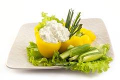 помадка сыра сделанная домом заполненная перцем Стоковое Фото