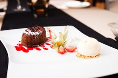 Помадка шоколада с мороженым Стоковое Изображение RF