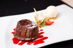 Помадка шоколада с мороженым Стоковая Фотография