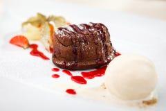 Помадка шоколада с мороженым Стоковые Изображения