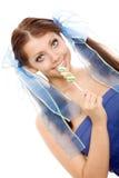 помадка lollipop девушки конфеты стоковая фотография