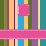 помадка striped карточкой иллюстрация вектора