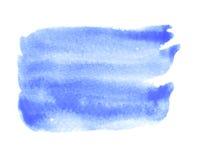 Помарка акварели голубая изолированная на белой предпосылке Стоковое Фото