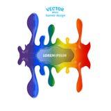 Помарка вектора Абстрактная художническая предпосылка, пятна краски Стоковые Изображения RF