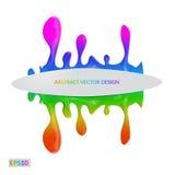 Помарка вектора Абстрактная художническая предпосылка, пятна краски знамена Стоковые Фотографии RF