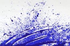 Помарка голубой краски Стоковые Изображения