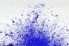 Помарка голубой краски Стоковое Изображение RF