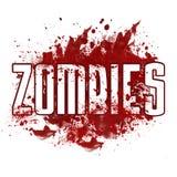Помарка зомби красная грязная Стоковое Изображение RF