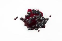 Помарка и падения варенья ягоды Стоковое Фото