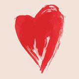 Помарка краски валентинки эскиза Стоковые Изображения RF