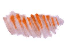 Помарка оранжевого коричневого конспекта акварели handmade Стоковые Изображения RF