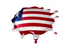 Помарка с национальным флагом Либерии Стоковое фото RF