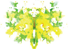 помарка Rorschach акварели симметричная Стоковые Фото