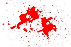 помарки крови изолировали белизну Стоковое Фото