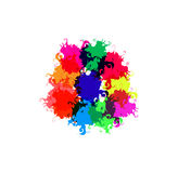 Помарки нарисованные цветом Стоковое фото RF