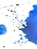 помарки покрывают краской белизну Стоковое фото RF