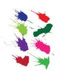 помарки покрывают краской комплект Стоковое Изображение RF