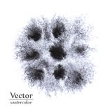 Помарки черноты вектора абстрактные Темные пятна дизайна чернил Стоковая Фотография