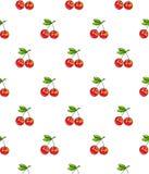 Помадка вишни на белой предпосылке Безшовная картина для конструкции Иллюстрации анимации Ручная работа Стоковое фото RF