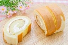 помадка губки крена десерта Стоковая Фотография