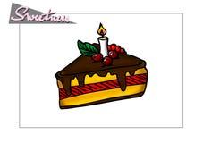 помадка десерта шоколада Стоковая Фотография