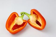 помадка перца предпосылки близкая вверх по белизне Стоковые Фото