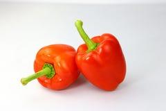 помадка перца предпосылки близкая вверх по белизне Стоковая Фотография