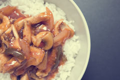 помадка риса цыпленка кислая Стоковая Фотография