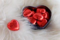 помадка сердца Валентайн формы влюбленности сердца карточки Стоковое Изображение RF