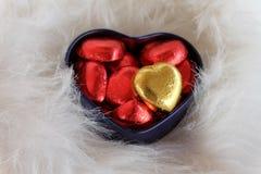 помадка сердца Валентайн формы влюбленности сердца карточки Стоковые Фото