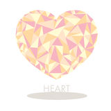 Помадка сердца полигональная Стоковое Изображение