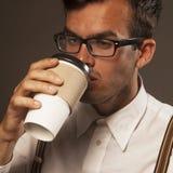 помадка чашки круасанта кофе пролома предпосылки Стоковое Фото