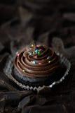 Помадка шоколада на предпосылке шоколада Стоковые Фотографии RF