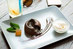Помадка шоколада на плите Стоковое Изображение RF