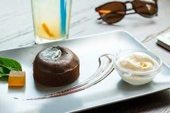 Помадка шоколада с мороженым Стоковые Фото