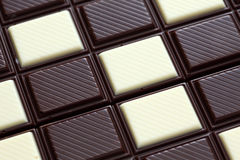 помадки десерта шоколада предпосылки темные белые Стоковое Изображение
