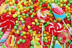 Помадки и конфеты сахара красочные Стоковая Фотография RF