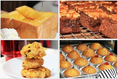 Помадки меда хлеба печений Bekery установленные Стоковая Фотография