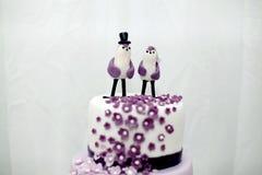 Помадки свадьбы, торт голубики Стоковая Фотография