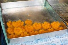 Помадки тайских десертов золотые. Стоковое Изображение