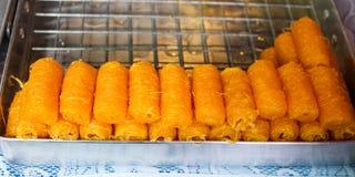 Помадки тайских десертов золотые. Стоковая Фотография