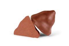 Помадки шоколада на белой предпосылке Стоковое фото RF