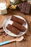 Помадки шоколада на плите Стоковое фото RF