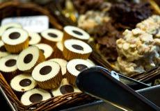 Помадки шоколада на рынке Стоковое Фото