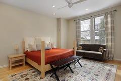 помеец гостя покрывала спальни стоковое фото rf
