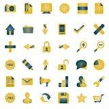 помеец иконы собрания Стоковые Изображения RF