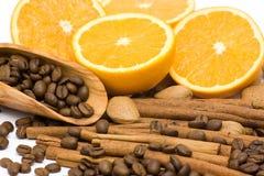 помеец кофе циннамона миндалин Стоковое Изображение