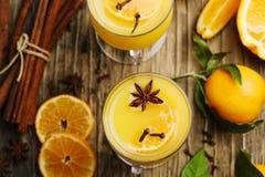 помеец питья горячий Пунш апельсина зимы Стоковая Фотография
