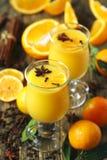 помеец питья горячий Пунш апельсина зимы Стоковое фото RF