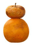 помеец предпосылки яблока над перезрелой белизной Стоковые Фото